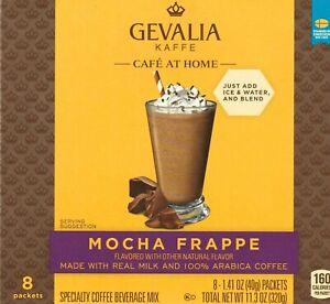 Gevalia Kaffe Cafe at Home Mocha Frappe Coffee Beverage Mix 8 Packets per Box