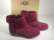 UGG Kristin Lonely Hearts Size 7 Ankle Mini Boots Pink 1012497 Women
