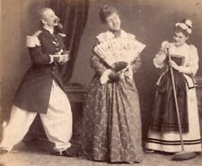 Transvestite fancy dress ball Meudon old Photo 1900'