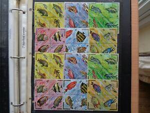 1974 BURUNDI 48 stamps AFRICAN fish (Gold+Black Font) #11