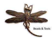 VINTAJ Natural Brass Art Deco Dragonfly 55mm Pendant Findings BEADS & TOOLS