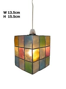 13.5cm/5'' Square Capiz Shade In Multi Color Of Corridor Bathroom Dining Shade