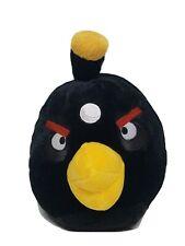 "Angry Birds Plush Black Bomb Bird 12"" Stuffed Toy 2010 Commonwealth Toy MINT EUC"