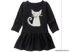 Gymboree CATASTIC Cat Sweater Dress Black NEW Girls 3T
