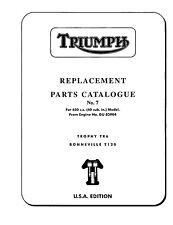 (1246) 1969 Triumph unit 650cc USA parts book No.7