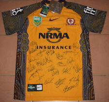 Brisbane Broncos 1st Indigenous Hand Signed Jersey Signed by Team