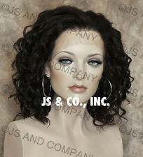 Heat Resistant French Lace Front Wavy Dark Brown Wig A2 4