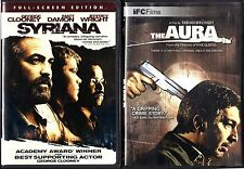 Syriana (DVD, 2006, Full Frame) & The Aura - 2 DVDs