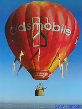 Vintage OLDSMOBILE Hot Air Balloon Photo by Ron Behrmann Print CAR Advertising