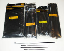 """1,500 ASSORTED CABLE WIRE TIES 6"""", 8"""", 8"""" Mounting, 12"""""""