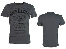 Jack Daniels - Classic Black Logo / Grey - T-Shirt - Größe Size M - Neu