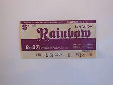 RAINBOW   Ritchie Blackmore's Rainbow TICKET   TOKYO Budokan 1981