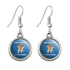 Don't Wanna Myth Thing Unicorn Bigfoot Dangling Drop Earrings