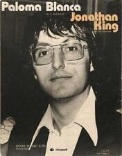 Jonathan King Paloma Blanca Sheet Music 1975