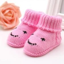 1pair Niño Recién Nacidos de Tejer Lana Crochet Hebilla Artesanía Suave Zapatos