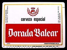 SA Balear de Cervezas DORADA BALEAR - CERVEZA ESPECIAL beer label SPAIN 20cl