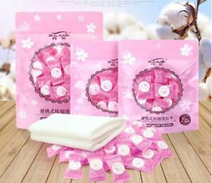 50pcs Cotton Travel Portable Compression Disposable Wash Towel Beauty Cleansing