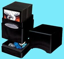 ULTRA PRO HI GLOSS METALLIC MIDNIGHT SATIN TOWER DECK BOX Card Dice Black Case