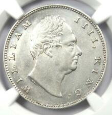 1835-C India William IV Rupee 1R - Certified NGC Uncirculated Details (MS UNC)
