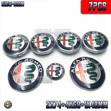 7pcs ALFA ROMEO Steering Wheel Hub Caps Steering Wheel Rear Hood Logo