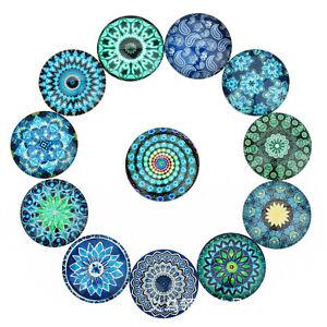 10PCS Floral Pattern Flatback Cabochon 10-25mm Handmade Art Decor Embellishment