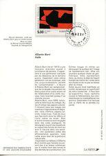 FDC / PREMIER JOUR / ART / TABLEAU / ALBERTO BURRI PARIS 1992
