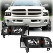 for 1994-2002 Dodge Ram 1500 2500 3500 Headlights +Corner Signal Lamp Left+Right (Fits: Dodge)