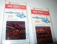 2 Vintage Disney World GAF PANA-VUE Slides Sets Main Street WDW-10 11 FREE Ship