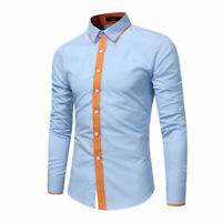 Fashion Men's Luxury Casual Stylish Slim Fit Long Sleeve Casual Shirts Tops