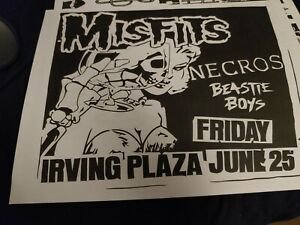1980s vintage Punk Flyer - the Misfits Beastie Boys Necros nyc