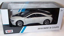 BMW i8 Coupe in White 2018 New in box 1-24 scale model Motor Max