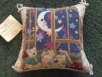 Vintage Katha Diddel Home Collection Baby Needlepoint Pillow - Stardust Dreams