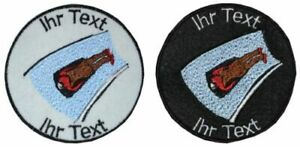 Bobrodeln Rodeln Rennrodeln Aufnäher mit Wunschtext Patch 8cm (408-1)