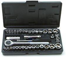 "Sakura 40 Piece Tools 1/4"" & 3/8"" Drive Socket Set in Hard Case Brand New"