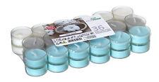 36 Duftteelichter Fresh Cotton transparente Hülle Duft Kerzen Acryl Cup Bunt