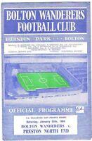 Bolton Wanderers v Preston North End 1963/4 FA Cup