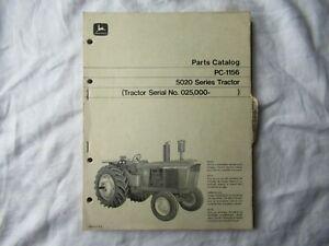 1970 John Deere 5020 tractor parts catalog manual book