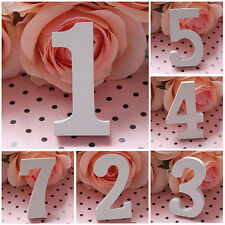 Hot White Wooden Numbers Plaque Personalised Door Art Wedding Table Numbers M43
