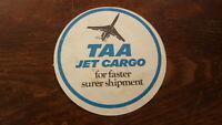 OLD AUSTRALIAN BEER DRINKS COASTER, 1970s TAA TRANS AUSTRALIA AIRLINES JET CRAGO