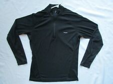 Vintage Patagonia L/S Wool Bike Jersey Shirt Cycling Road MTB Men's M Black Zip
