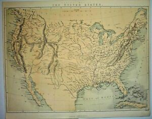 """ Central Map of The United States."" 1860"