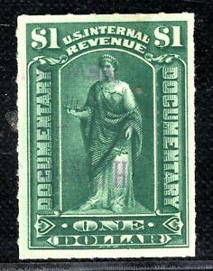 USA Revenue Stamp $1 DOCUMENTARY Used{samwells-covers}PURPLE30