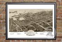 Vintage Hyannis, MA Map 1884 - Historic Massachusetts Art - Victorian Industrial