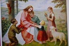 """1 AK Kunstkarte Albert Figel  """"Jesus als Kinderfreund""""  Bruckmann Nr. 83     Q"""