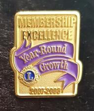LIONS INTERNATIONAL MEMBERSHIP EXCELLENCE YEAR-ROUND GROWTH PIN
