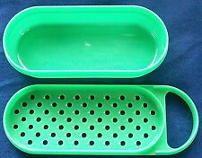TUPPERWARE GREEN CHEESE GRATER - 2 PIECES 1375-1 & 1374-10
