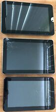 Lot (3) Tablets Samsung Galaxy Tab Sch-1905 , D2 ,Toshiba Thrive Cracked Screens