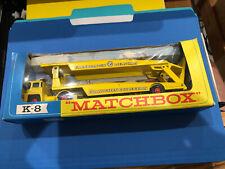 "Vtg ""Matchbox"" King Size Car Transporter K-8 A Lesney Product In Box Guy Warrior"