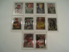 Set of 10 1992 Card Dynamics GANT Oil Company Metal NASCAR Racing Cards Limited