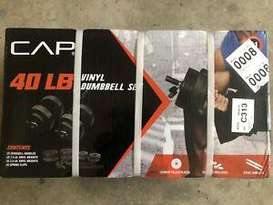 NEW 40 lb Adjustable Dumbbell Weight Set - CAP Vinyl Set - FREE SHIPPING